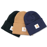 Keep your head and ears covered on those cold, windy days around the plant with Carhartt knit caps. Made from soft 100% acrylic jersey knit material, these caps complement any winter wardrobe. One size fits all. Choose from black, Carhartt ...