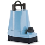 Ideal for draining flooded areas, rooms and tanks. Pumps feature oil-filled aluminum housing with protective coating, Viton® seal, nylon base and impeller. Pump down to 3/8