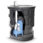 Goulds sewage pump packages are completely assembled at the factory for easy ordering and installation. Each package features a Goulds PV Series Vortex Pump. The corrosion-resistant basin is made from heavy-duty ribbed polyethylene with a 4