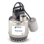 Goulds LSP sump pump features corrosion-resistant, lightweight construction. This automatic control model allows you to adjust on/off levels.