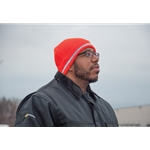 These extra-thick knit caps keep your head and comfortable, even on cold winter days. Caps feature reflective trim. One size fits all.