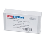 USABlueBook® brand filters meet the same standards as the brand names, but offer large cost savings. USABlueBook A-E glass fiber filters provide high flow rates, high wet strength and high holding capacities. They are specified as a filter for solids ...