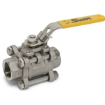 These full port ball valves feature a blowout-proof stem and come standard with a lockable handle. Their three-piece design means you can easily remove the center part of the valve for cleaning or repair without removing the pipes from the ...