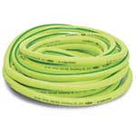 Flexzilla premium garden hose features hybrid-polymer construction for excellent abrasion resistance all year long. Hose performs without memory—no more wrestling with a hose that wants to curl up. Hose comes with anodized aircraft aluminum fittings. Lifetime warranty.
