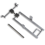Permanent steel rectangular wall mounting bracket includes hardware and frame to support a Hach FLO-DAR sensor (low-range models without intrinsically safe feature).