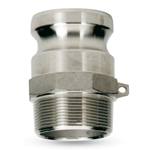 "Part F, 2"" NPT(M) x Adapter (M) Quick Coupling, Aluminum, AL-F200"