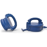 """They feature a comfortable, sturdy handle and a """"bump"""" that attaches to any standard cam and groove fitting. Use them as an alternative to traditional cam and groove caps and plugs. Trust us—they make hose transportation a whole lot easier! ..."""