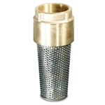 This valve features bronze construction with a stainless steel screen. Rated 200 WOG.