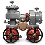 Use FEBCO backflow preventers to protect high-hazard fluids in water service. Master Series backflow preventers feature a space-saving N-shape design that minimizes costs associated with installation fittings. These meters let you easily change the outlet flow from standard vertical down ...