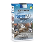 Rust-Oleum NeverWet creates a moisture-repellent barrier that protects against corrosion, stains, swelling and shrinkage. Use this simple two-step super-hydrophobic system on metal, wood, aluminum, galvanized metal, PVC, concrete, masonry, asphalt, vinyl siding, fiberglass, canvas, most plastics and more. ...