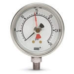 These pressure gauges feature a maximum-pressure hand which indicates peak process pressure, helping you monitor system pressure surges. Suitable for potable water.