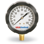 Liquid-filled gauges absorb shock, provide pointer stability and protect against internal damage. They are designed to perform in rugged applications and harsh environmental conditions. Features 1/2