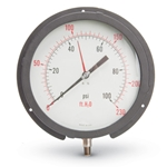 These rugged gauges feature a heavy, scuff-resistant aluminum case and a rear flange for panel/back mounting. Stainless steel wetted materials comply with the latest drinking water regulations. All gauges are dual scale psi/ft H2O; liquid-filled not available. Suitable for use ...