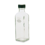 Autoclavable bottles are great for sample storage or serial dilutions in microbiological analysis. Bottle and rubber-lined catp are autoclavable. Bottles are square and feature a smooth marking spot and graduated line at 99 mL. Accurate to ±1 mL.