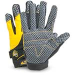 These gloves feature a silicone hashed pattern on the palm and finger patches to provide superior grip in dry or wet working conditions. Breathable form-fitting spandex on the back of hand and terrycloth thumb provide excellent fit. Gloves also feature ...
