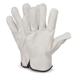 Cowhide Leather Gloves, Unlined, Medium, Sold by Pair, 990K/M