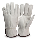 Cowhide Leather Gloves, Unlined, Large, Sold by Pair, 990K/L