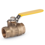 These brass ball valves conform with lead-free legislation for potable water systems. They feature a lever handle and blowout-proof stem. Additional handle options are available as special order. Contact USABlueBook for more information. Certifications: NSF, MSS-SP-111