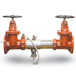 Models feature NRS gate valves. Strainers are not included, but recommended. Materials: Sch 40 304 SS housing & sleeve; EPDM, silicone and Buna-N elastomers; Noryl® and SS checks; silicone check discs; nickel-plated bronze test cock bodies. Certifications & Approvals: ASSE ...