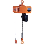 This compact hoist features a high-efficiency motor with stepped-down 24-VAC push-button operation for user safety. It's dust and water resistant, and load-limit fitted. Top and lift hook both feature a swivel with latch for added safety. It has a hoist ...