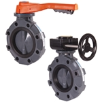 Hayward PVC butterfly valves feature PVC construction with stainless steel shafts and EPDM seals. They're great for water service, but also handle abrasive or slurry-type fluids. Manual valve features lever handles with 19 lockable stop positions. Other seals, operators, actuation ...