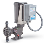 BLACKLINE series motor-driven spring-return diaphragm pumps deliver reliable metering control. They feature oil-lubricated ball bearings in a die-cast aluminum housing' and a reinforced PTFE diaphragm. VFD control pumps feature a Lenze SMVector variable frequency drive (VFD) that offers a turndown ...