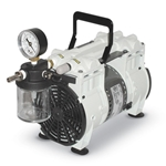 Use these pumps for filtration and aspiration applications that don't generate chemical vapors' such as suspended solids and membrane filtration procedures. Oil-free operation simplifies use' lowers the noise level and extends the service life of your pump. Pumps feature inlet ...