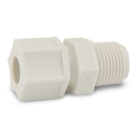 Polypropylene fittings have good chemical resistance and are unaffected by weak acids and bases. Withstands continuous temperatures up to 215°F (101.7°C) with good resistance to organic solvents below 175°F (79.4°C). Do not use with oxidants, strong acids or in continuous ...