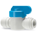 These valves feature polypropylene construction with EPDM O-rings. Choose from 1/4