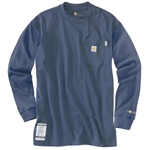 Carhartt Force flame-resistant cotton T-shirts are made of 100% cotton FR jersey knit. They feature FastDry technology that fights odors and wicks away sweat for comfort. Shirts feature knit crew neck collar and cuffs, and a left chest pocket with ...