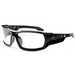 Stylish ODIN safety glasses offer a large full frame design with rubber temples and non-slip nosepiece. Lenses feature scratch-resistant coating and filter 99.9% of harmful UVA/UVB/UVC rays. Meets ANSI Z87.1+ and MIL-PRF-32432 Ballistic Fragmentation Class 1 requirements.