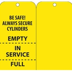 """Full/In Service/Empty"" 3"" x 6"" Card Stock Tag' 100/Pack"