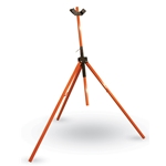 Tripod sign stands combine durability and versatility. They feature corrosion-resistant powder-coated square tubular steel construction for long life at an economical price. The three-leg design keeps stands upright in windy conditions. A built-in 3-flag holder secures standard 3/4
