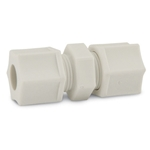 Polypropylene fittings have good chemical resistance and are unaffectedby weak acids and bases. Withstands continuous temperatures up to 215°F (101.7°C) with good resistance to organic solvents below 175°F (79.4°C). Do not use with oxidants, strong acids or in continuous sunlight. ...