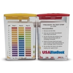 USABlueBook® pH Test Strips' 1 to 14 pH' 1 Unit Increments' 3-Pad' 100/pk
