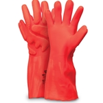 Rough-finish PVC-coated gloves provide superior abrasion resistance and a strong grip in slick conditions. Air-infused foam technology protects the back of the hand against bumps and impact. Ideal for working on heavy items in tight spaces. Gloves are made on ...