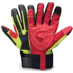 Heavy-duty gloves combine comfort and safety with high dexterity. Their hook-and-loop spandex cuff allows for an individualized fit. Made with a synthetic leather double palm and reinforced silicone fingers, the gloves offer oil resistance with excellent gripping. TPR (thermoplastic rubber) ...