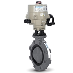 "Hayward 8"" Butterfly Valve with HRSN3BK1 Actuator' PVC/EPDM"