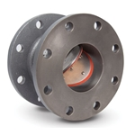 Technocheck blower check valves offer low pressure loss in a low-maintenance design. They feature a stationary hinge post and hinge clamp to reduce wear to hinges, pins, valve seats and springs. The valve plate features complete metal-to-metal support and minimal ...