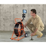 Gen-Eye Prism Video Pipe Inspection System w/ Self-Leveling Color Camera' 300' Push-Rod