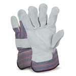 These traditional leather gloves are an economical alternative for work around the plant. They feel good' the seams fit just right' and the reinforced cuff has a rubber coating. Gloves have a leather strap on the back of the knuckles ...