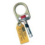 These anchors provide a secure point of attachment for your fall arrest system. Use concrete D-ring anchors for both temporary and permanent applications. They feature a reusable swiveling D-ring assembly with safe hook-up indicator to confirm proper installation. Additional bolts ...