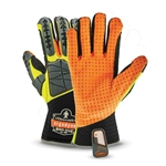 Wear these gloves for tough jobs requiring back-of-hand impact protection, superior abrasion resistance, dexterity and grip. They feature a hi-vis orange and lime color scheme with reflective accents. Breathable mesh construction enhances comfort. Sold by the pair. Style 925F(x) standard ...