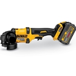 Dewalt FlexVolt cordless grinders offer the same power as corded models with the portability of cordless. Includes: one 60V MAX FlexVolt Li-Ion battery (6.0 Ah)' Fast Charger' side handle' 4-1/2