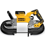 Band saws feature bi-metal blade' blade tracking adjustment' LED work light' integrated hanging hook and ergonomic soft-grip back handle. Includes: 20V MAX XR® Li-Ion battery' Fast Charger and hard plastic carrying case.