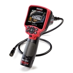 Make inspection and documentation easy with RIDGID's next evolution of micro inspection cameras. They feature a comfortable pistol-grip design and crisp color LCD screens. The rugged anodized aluminum camera head has a scratch-resistant sapphire lens and four adjustable super-bright LED ...