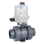 These true union electrically actuated ball valves feature corrosion-resistant plastic parts and NEMA 4X enclosures for a long' trouble-free life. Most models are in stock and ready to ship today. Ball valves with upgraded HRSN2 series actuators close more slowly ...