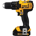 These compact cordless drill/drivers feature an LED worklight for increased workspace visibility. Lightweight design minimizes user fatigue. The 1/2