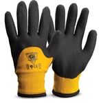 Stay warm, dry and mobile in cold conditions with these insulated 3/4 dip gloves. Engineered yarn outer shell and thermal inner liner provide ANSI Cut A4 protection from cut hazards and great resistance to abrasion and tear. Knuckle-dipped bi-polymer coating ...