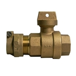 This curb stop valve features lead-free brass construction.